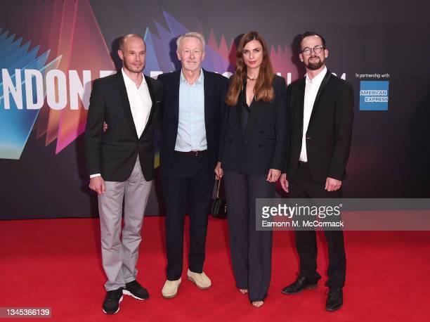"Producers Ben von Dobeneck, Paul Webster, Janine Jackowski and Jonas Dornbach attend ""Spencer"" UK Premiere during the 65th BFI London Film Festival..."
