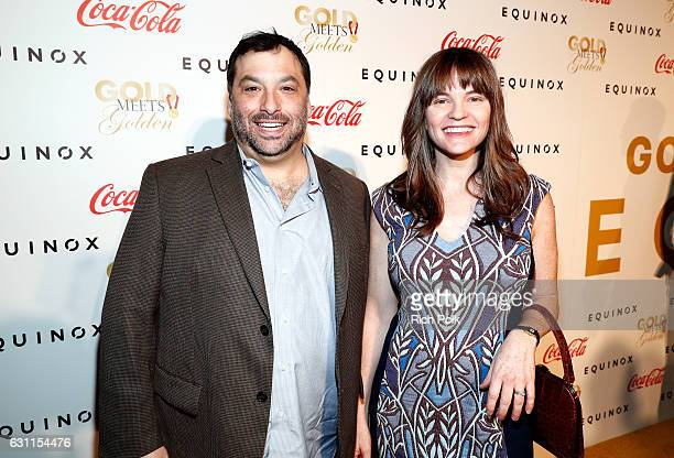 Producers BJ Schwartz and Annie Lukowski attend Life is Good at GOLD MEETS GOLDEN Event at Equinox on January 7 2017 in Los Angeles California