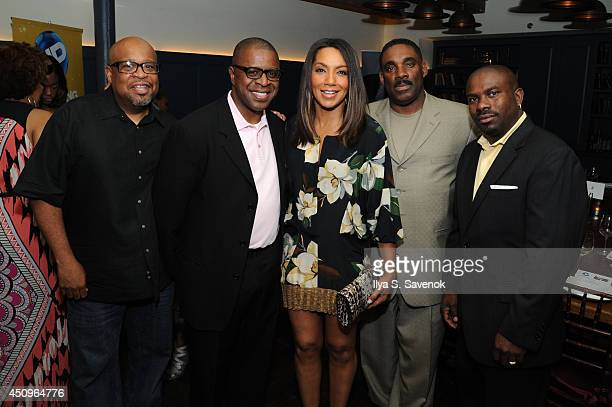 Producers Bob Sumner Todd Brown News anchor Arthel Neville Ty Johnson of UP and David Scott attend the 2014 ABFF_ UP TV Aspire TV Dinner at Soho...