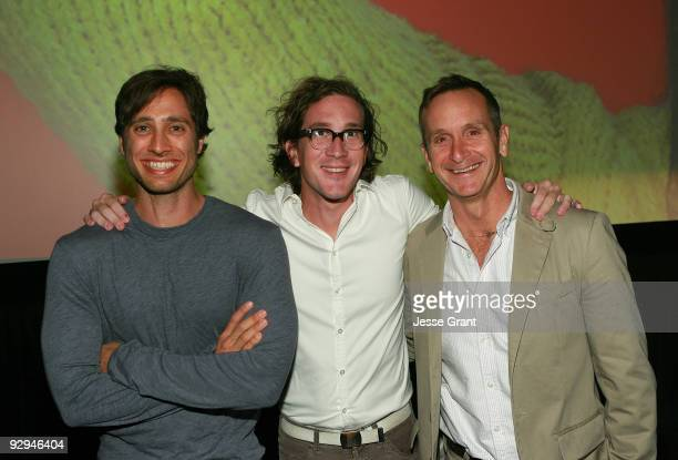 Producers Brad Falchuk and Ian Brennan and executive producer Dante Di Loreto attend an advanced screening of the 11th episode of 'Glee' titled...