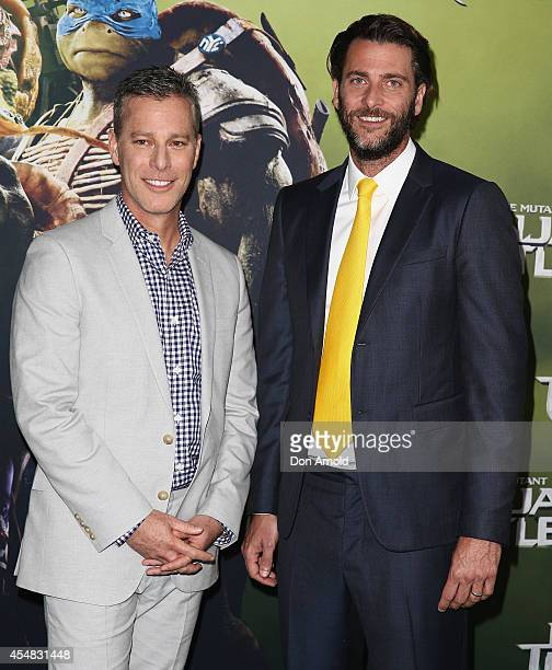 Producers Brad Fuller and Andrew Form arrive at the Sydney Premiere of Teenage Mutant Ninja Turtles at The Entertainment Quarter on September 7 2014...