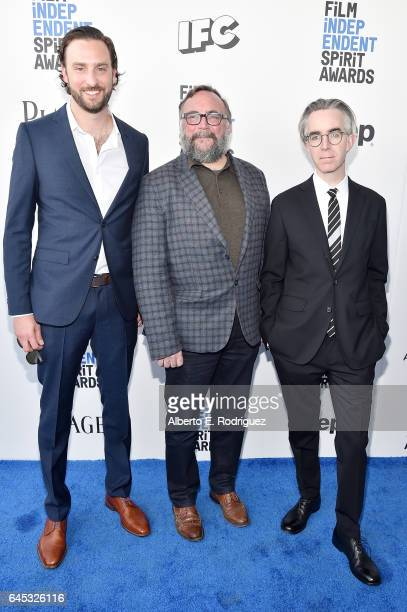 Producers Brent Stiefel Mike S Ryan and Michael Bowes attend the 2017 Film Independent Spirit Awards at the Santa Monica Pier on February 25 2017 in...