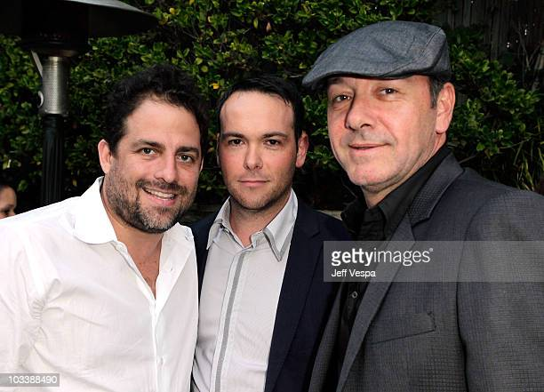 Producers Brett Ratner Dana Brunetti and Kevin Spacey attend Michael De Luca's surprise birthday party hosted by Angelique De Luca and Brett Ratner...