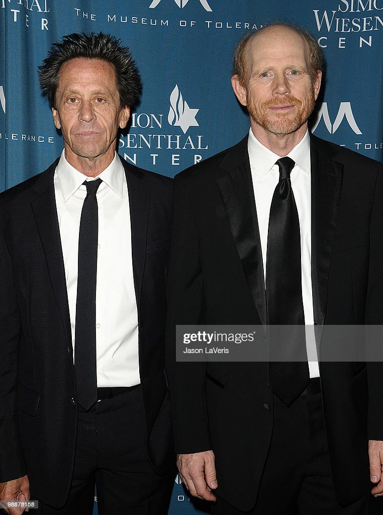 Producers Brian Grazer and Ron Howard attend the Simon Wiesenthal Center's 2010 Humanitarian Award ceremony at the Beverly Wilshire hotel on May 5, 2010 in Beverly Hills, California.