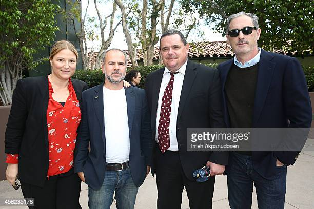 Producers Bruna Papandrea and Jeremy Dawson moderator Mike Fleming and producer John Lesher attend Deadline's The Contenders at DGA Theater on...