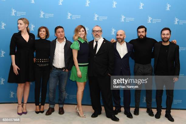 Producers Carolina BangMercedes Gamero actors Secun de la Rosa Blanca Suarez producer and director Alex de la Iglesia actor Jaime Ordonez actor Mario...
