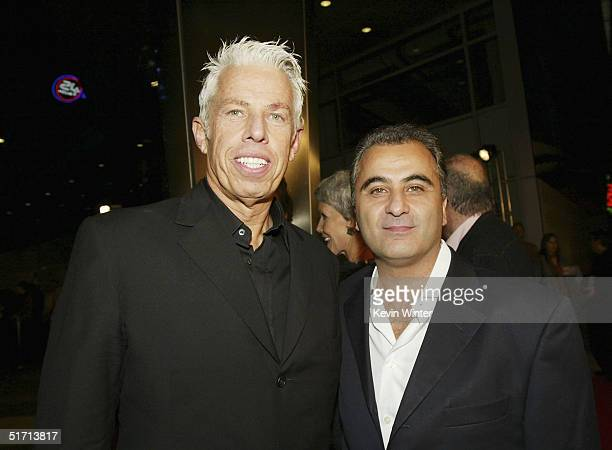 Producers Cary Brokaw and Barry Navidi pose at the AFI Fest 2004 screening of Sony Pictures Classics' William Shakespeare's The Merchant of Venice at...