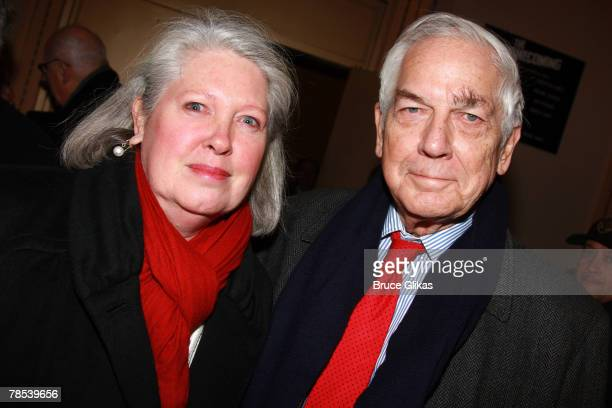 Producers Charlene Marshall and Anthony Marshall Brooke Astors son arrive at the opening night party for 'The Homecoming' at Bond 45 on December 16...