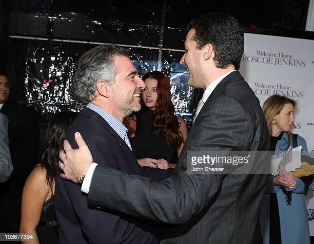 Producers Charles Castaldi and Scott Stuber arrive to the premiere of Welcome Home Roscoe Jenkins at Grauman's Chinese Theatre on January 18 2008 in...
