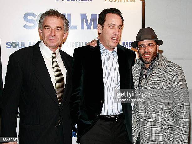 Producers Charles Castaldi David Friendly and Steve Greener arrive at the world premiere of Soul Men at the Apollo Theater on October 28 2008 in New...