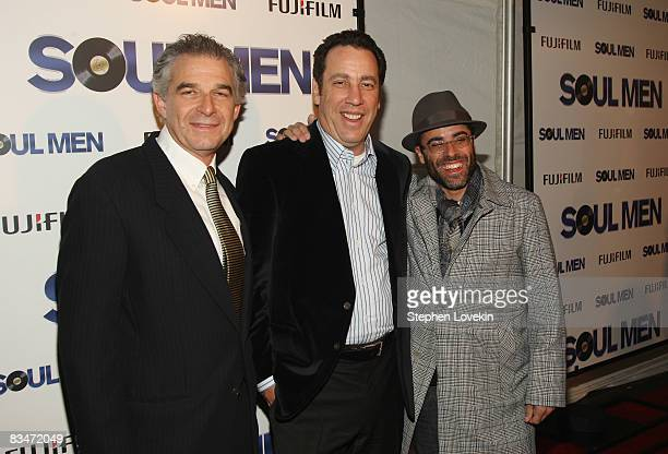 Producers Charles Castaldi David Friendly and Steve Greener attend the world premiere of Soul Men at The Apollo Theater on October 28 2008 in New...