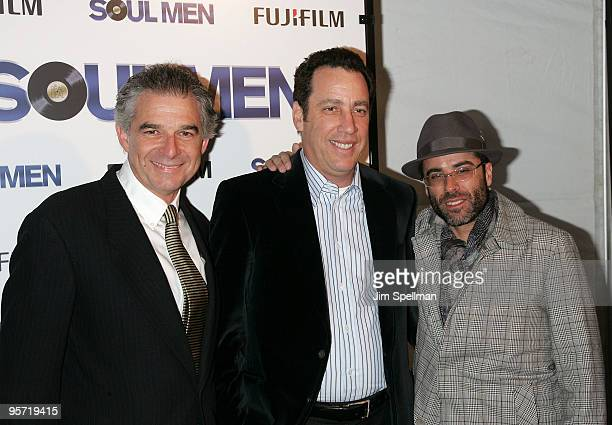 Producers Charles Castaldi David Friendly and Steve Greener attend the premiere of Soul Men at the Apollo Theater on October 28 2008 in New York City