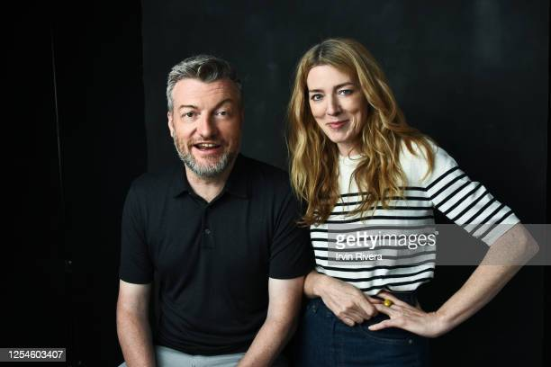 Producers Charlie Brooker and Annabel Jones are photographed for The Wrap on June 6, 2019 in Los Angeles, California. PUBLISHED IMAGE.