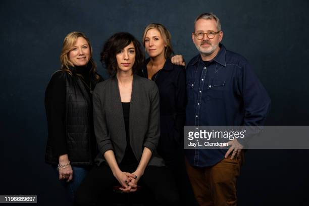 Producers Christine O'Malley director Lana Wilson Caitrin Rogers and Morgan Neville from 'Miss Americana' are photographed in the LA Times Studio at...