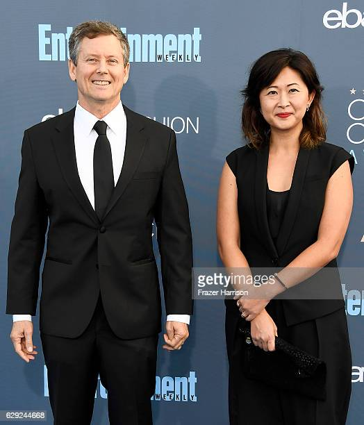 Producers Clay Newbill and Yun Lingner attend The 22nd Annual Critics' Choice Awards at Barker Hangar on December 11 2016 in Santa Monica California
