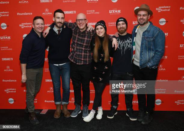 Producers Cody Zwieg Matt Leslie Directors YoannKarl Whissell Anouk Whissell Francois Simard and Producer Jameson Parker attend the 'Summer Of '84'...