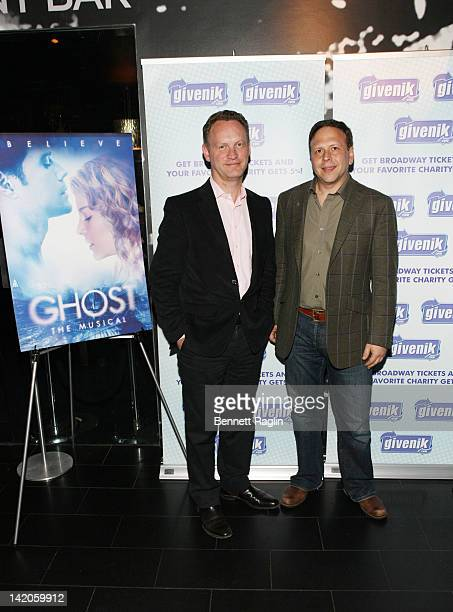 Producers Colin Ingram and David Garfinkle attend the Ghost The Musical postperformance reception at the Paramount Hotel on March 28 2012 in New York...