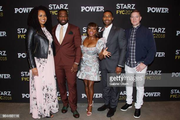 Producers Courtney Kemp Curtis '50 Cent' Jackson actors Naturi Naughton Omari Hardwick and Joseph Sikora arrive to the For Your Consideration event...
