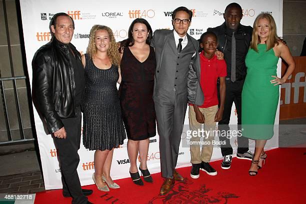 Producers Daniel Crown Riva Marker Amy Kaufman director/screenwriter Cary Joji Fukunaga actors Abraham Attah Idris Elba and producer Daniela Taplin...