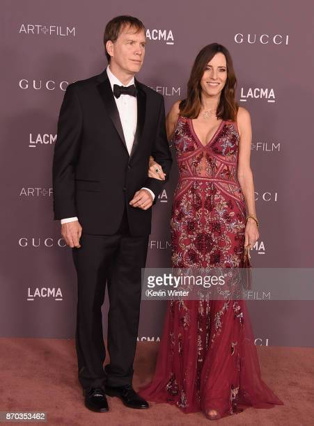 Producers Daniel Voll and Cecilia Peck Voll attend the 2017 LACMA Art Film Gala Honoring Mark Bradford And George Lucas at LACMA on November 4 2017...