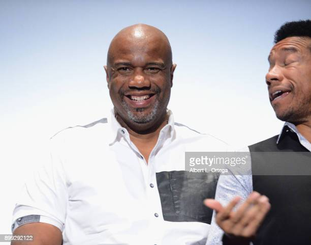 Producers Darnell Davis and Rico E Anderson participate in the QA at the Cast And Crew Screening Of 5th Passenger held at TCL Chinese 6 Theatres on...