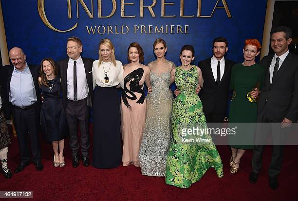Producers David Barron Allison Shearmur director Kenneth Branagh actors Cate Blanchett Holliday Grainger Lily James Sophie McShera Richard Madden...