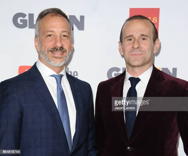 Producers David Kohan and Max Mutchnick attend the 2017 GLSEN Respect Awards at the Beverly Wilshire Four Seasons Hotel on October 20 2017 in Beverly...