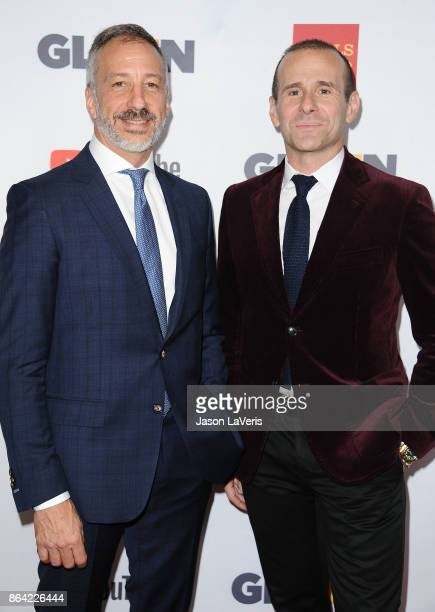 Producers David Kohan and Max Mutchnick attends the 2017 GLSEN Respect Awards at the Beverly Wilshire Four Seasons Hotel on October 20 2017 in...