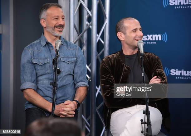 Producers David Kohan and Max Mutchnick take part in SiriusXM's 'Town Hall' with the cast of 'Will Grace' hosted by Andy Cohen on September 25 2017...