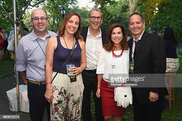 Producers Doug Herzog and Kevin Kay and guests attend the Lip Sync Battle LIVE At SummerStage In New York on July 13 2015 in New York City
