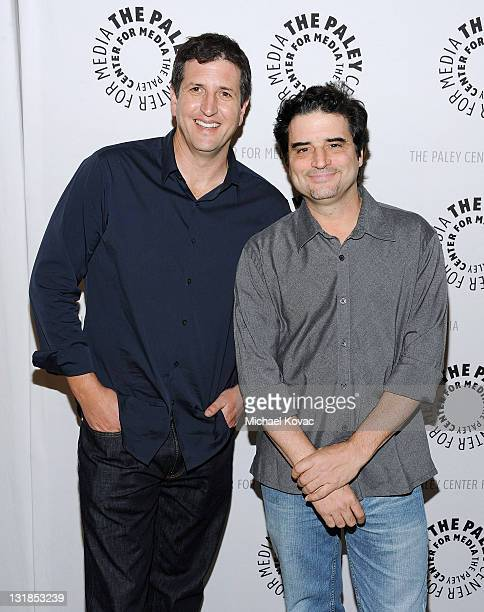 Producers Doug Robinson and Tom Hertz arrive at the Rules Of Engagement Panel at The Paley Center for Media on November 4 2010 in Beverly Hills...