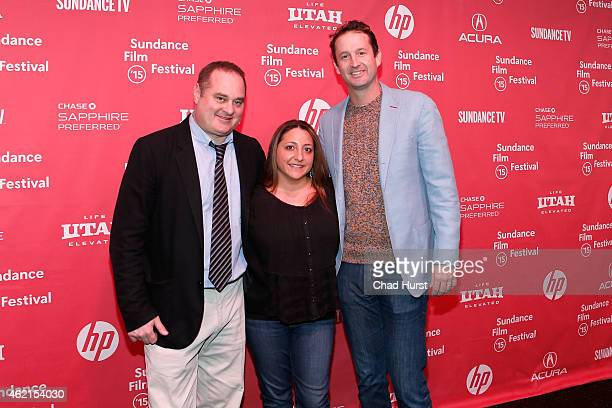 Producers Douglas Tirola Susan Bedusa and Sundance Film Festival Director of Programming Trevor Groth attend the Drunk Stoned Brilliant Dead The...