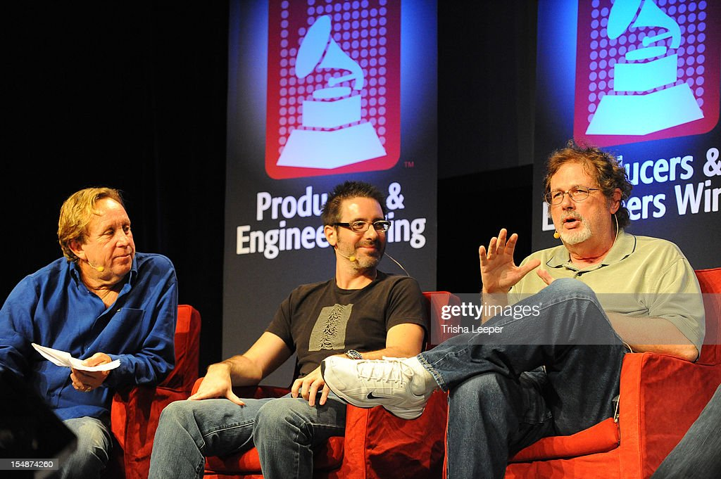 Producers Ed Cherney, Ryan Hewitt and Dave Pensado speaks at the GRAMMY SoundTables: Sonic Imprints-Songs That Changed My Life at The Moscone Center on October 27, 2012 in San Francisco, California.