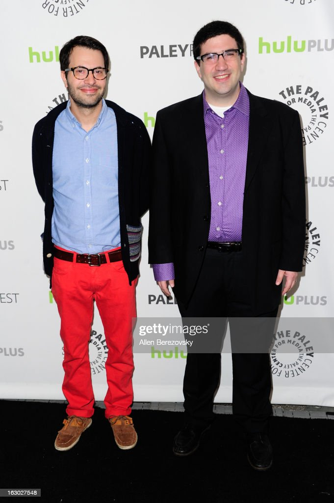 Producers Edward Kitsis (L) and Adam Horowitz arrive at the 30th Annual PaleyFest: The William S. Paley Television Festival featuring 'Once Upon A Time' at Saban Theatre on March 3, 2013 in Beverly Hills, California.