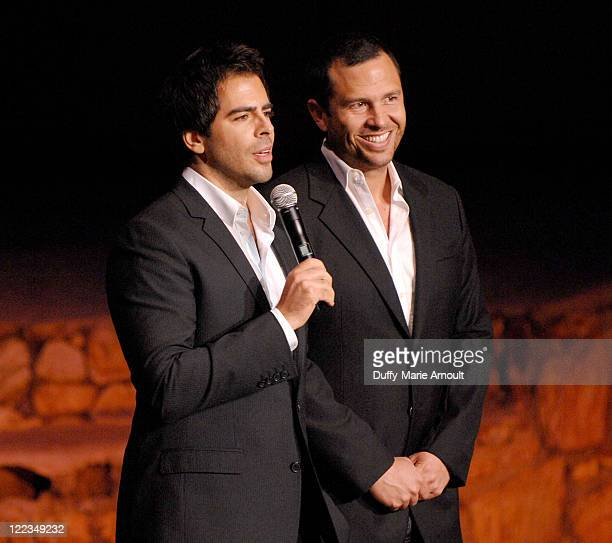 Producers Eli Roth and Eric Newman speak during The Last Exorcism Ford Screening during the 2010 Los Angeles Film Festival at John Anson Ford...
