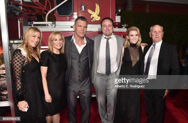 Producers Ellen H Schwartz Dawn Ostroff actor Josh Brolin producer Jeremy Steckler producer Michael Menchel and guest attend the premiere of Columbia...