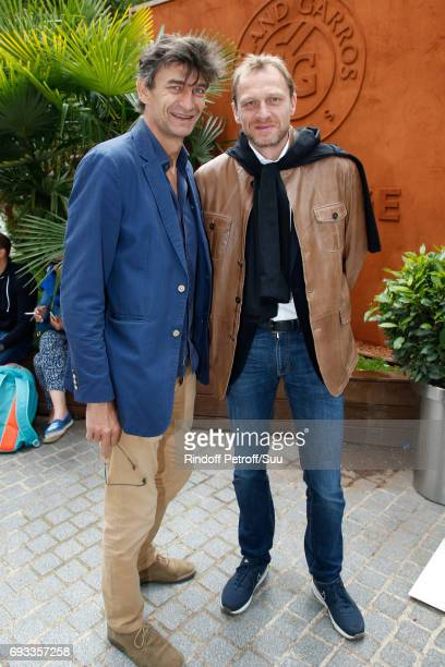 Producers Eric Altmayer and his brother Nicolas Altmayer attend the 2017 French Tennis Open Day Eleven at Roland Garros on June 7 2017 in Paris France