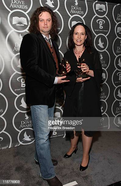 Producers Eric Welch and Tameron Hedge pose in the press room at the 40th Annual GMA Dove Awards held at the Grand Ole Opry House on April 23, 2009...