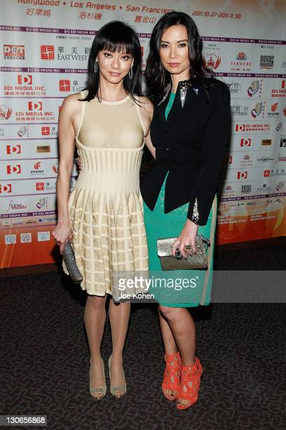 Producers Florence Sloan and Wendi Murdoch attend the 'Snow Flower And The Secret Fan' DVD And BluRay Launch at DGA Theater on October 27 2011 in Los...