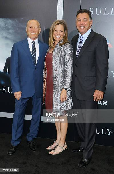 """Producers Frank Marshall, Allyn Stewart and Tim Moore attend the """"Sully"""" New York premiere at Alice Tully Hall, Lincoln Center on September 6, 2016..."""