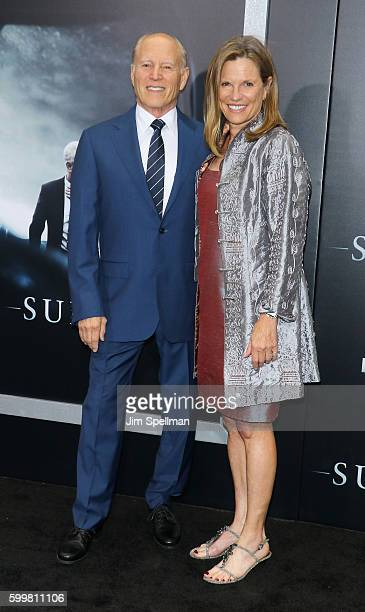 """Producers Frank Marshall and Allyn Stewart attend the """"Sully"""" New York premiere at Alice Tully Hall, Lincoln Center on September 6, 2016 in New York..."""