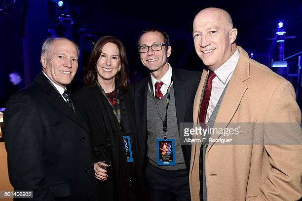 """Producers Frank Marshall Kathleen Kennedy and Richard Lovett and Bryan Lourd of CAA attend the after party for the World Premiere of """"Star Wars The..."""