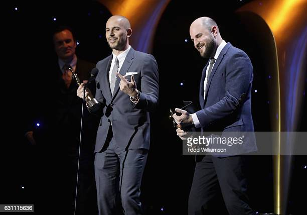 Producers Fred Berger and Jordan Horowitz accept the award for Best Film for La La Land at The 6th AACTA International Awards on January 6 2017 in...