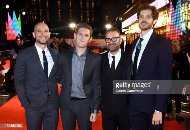 Producers Fred Berger Mike Makowsky Eddie Vaisman and director Cory Finley attend the Bad Education UK Premiere during the 63rd BFI London Film...