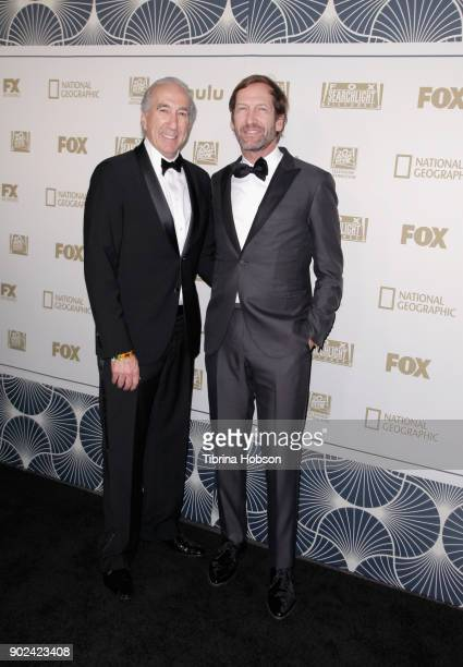 Producers Gary Barber and Kevin Ulrich attend FOX FX and Hulu 2018 Golden Globe Awards After Party at The Beverly Hilton Hotel on January 7 2018 in...