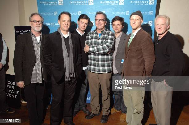 """Producers Gary Goetzman, Tom Hanks, actors Colin Hanks, Tom Arnold, Adam Scott, Jonathan Ames and Don Most attend """"The Great Buck Howard"""" After Party..."""