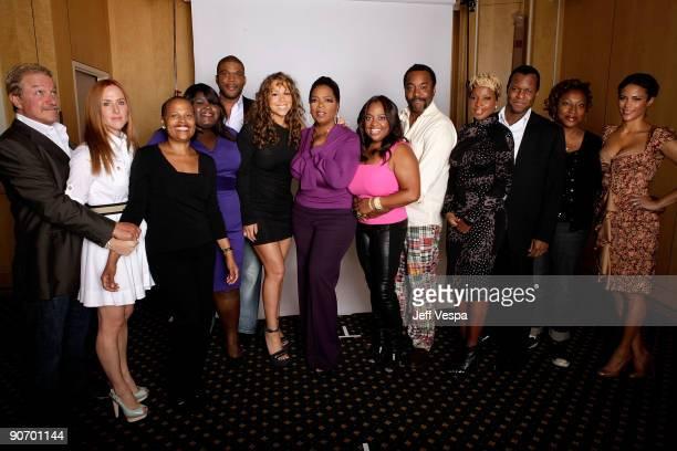 Producers Gary Magness Sarah SiegelMagness writer Sapphire actress Gabby Sidibe producer Tyler Perry actress/singer Mariah Carey Oprah Winfrey...