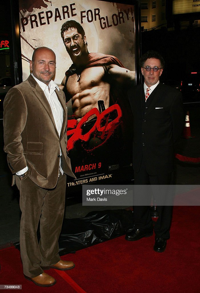 Producers Gianni Nunnari and Mark Canton attend the Warner Bros. premiere of '300' held at Grauman's Chinese theater on March 5, 2007 in Hollywood, California.