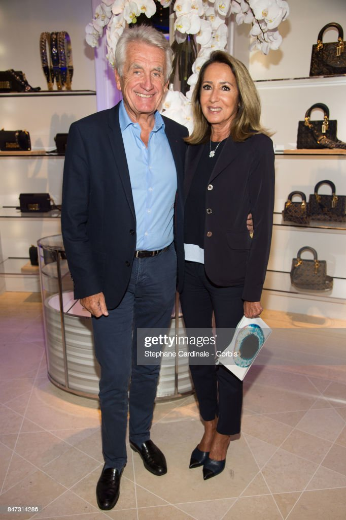 Producers Gilbert Coullier and Nicole Coullier attend 'La Fete Des Vendanges' at Dior Avenue Montaigne on September 14, 2017 in Paris, France.