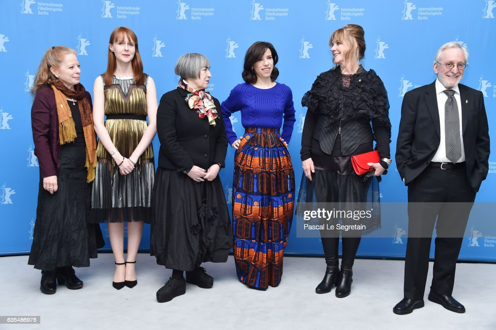 Producers Heather Haldane, Susan Mullen, director Aisling Walsh, actress Sally Hawkins, producers Mary Young Leckie and Bob Cooper attend the 'Maudie' photo call during the 67th Berlinale International Film Festival Berlin at Grand Hyatt Hotel on February 15, 2017 in Berlin, Germany.